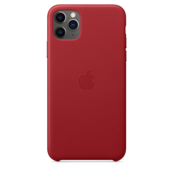 iPhone 11 Pro Max 皮革保護殼 - (PRODUCT)RED™‎ Apple